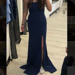 Likely royal blue dress